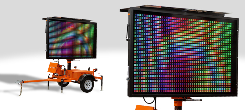 Color Message Board Portable Changeable Message Sign
