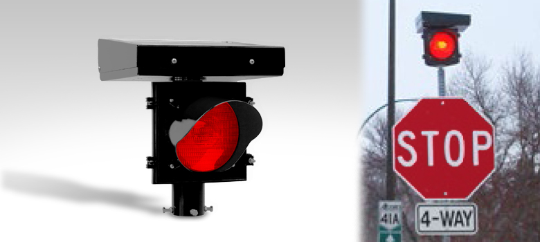 JSF Stop Sign Flashing Red Light Beacon